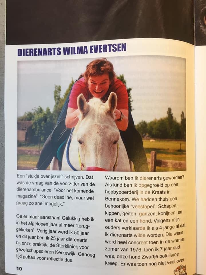 Dierenarts Wilma Evertsen in the spotlight…